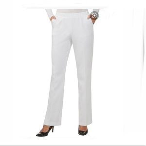 Allison Daley Petite White Pull-On Pants. NWT